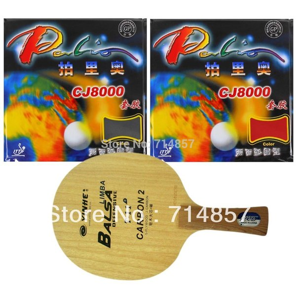 Wholesale- Original Galaxy Yinhe T-11+ Table Tennis Blade with 2x Palio CJ8000 (2-Side Loop) Rubber Sponge racket Shakehand Long Handle FL
