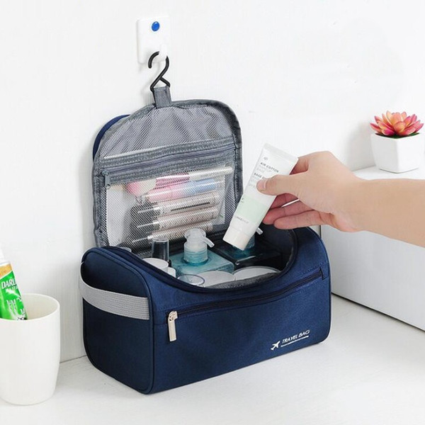 Casual Men function Cosmetic Bag Business Makeup Case Women Travel Make Up Zipper Organizer Storage Pouch Toiletry Wash Kit