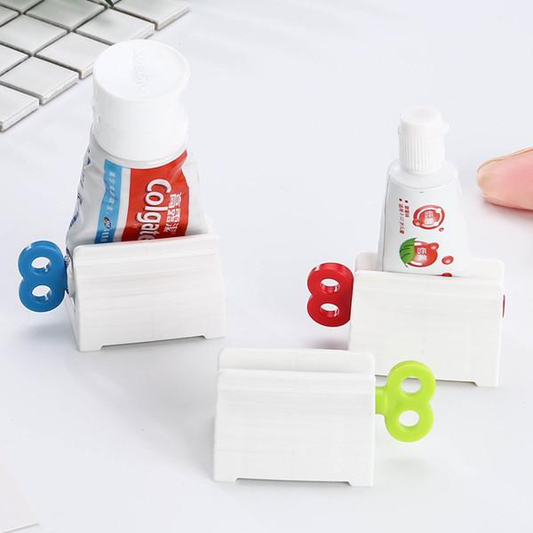 3 couleurs dentifrice dentifrice tube à rouler dentifrice squeezer support de support salle de bain accessoires b