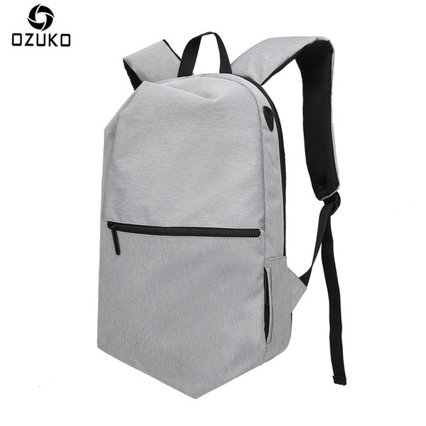 OZUKO 2018 Men's Backpack Large Capacity USB Business Travel Backpack 15Inch Laptop Anti-theft Bag Casual School Bags