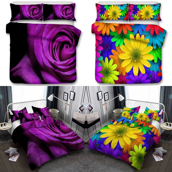 340d286735 Set di copri-lenzuola per ragazze con stampa floreale set 3 pezzi Set per  copri