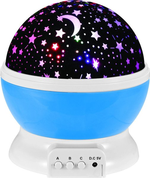 Christmas dream rotating Projection lamp Rotation Starry moon Star master Night Light Sky Romantic Decorating Hallowmas Birthday Party
