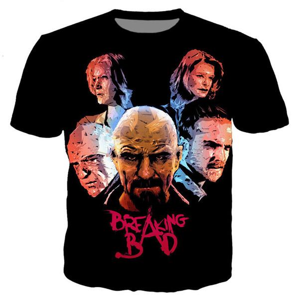 TV Breaking Bad Newest Fashion Men/Women Tops 3d Printing T-Shirt Unisxe Funny Short Sleeved Tees 3D T-shirt N178