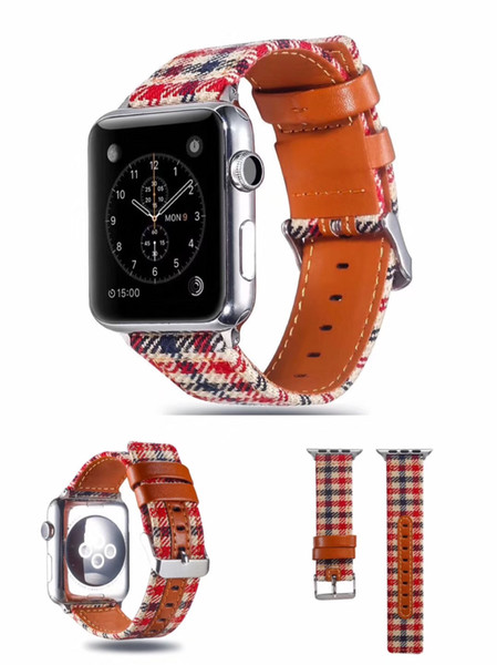 1PCS New For Apple Watch Strap cloth fine woven nylon watch band iwatch1/2/3/4 generation replacement wrist strap 38mm 42mm