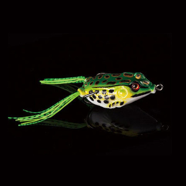 1PCS 5cm 10g Frog Lure Fishing Lures Treble Hooks Top water Ray Frog Artificial Minnow Crank Strong Artificial Soft