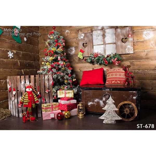 Sfondi di fotografia a tema Natale panno di vinile Fondali fotografia di stampa del computer fondali per studio fotografico ST-678