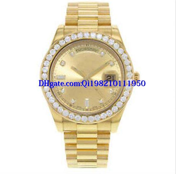 Рождественский подарок роскошные мужские часы 41мм II 218238 президент 18k желтое золото автоматические мужские часы