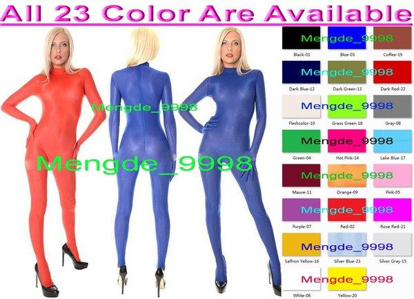Seksi Vücut Suit Kostümleri Ile Ön Zip Unisex 23 Renk Lycra Spandex Takım Catsuit Kostümleri Unisex Bodysuit Fantezi Elbise Parti Kostümleri M310