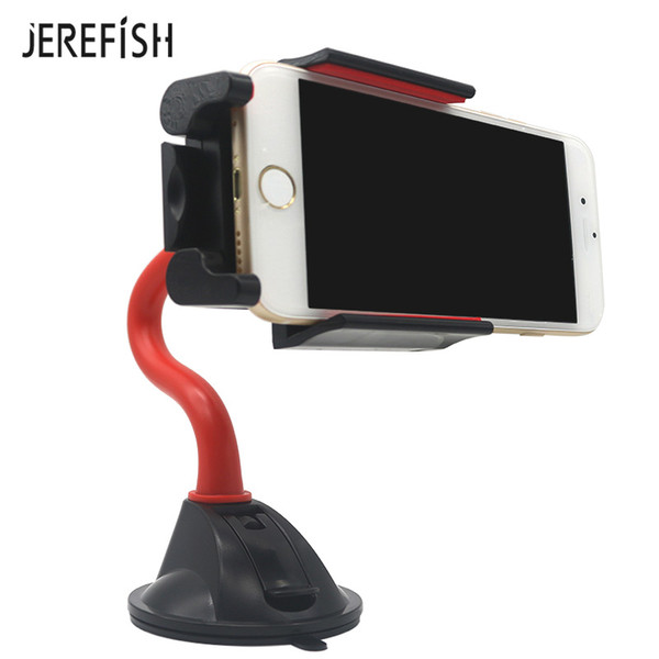 wholesale Premium Auto Car Phone Holder Windshield Mobile Phone Holder Flexible & Rotatable GPS Stand Display Universal Mount