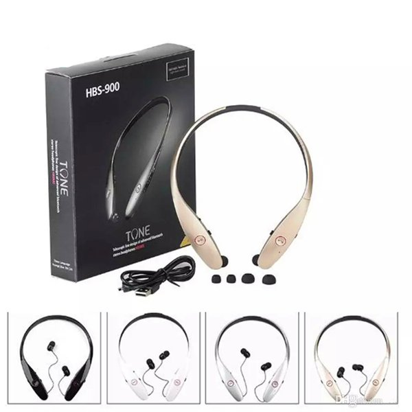 HBS900 Bluetooth Headset Casque Wireless Bluetooth Earphones Sport Stereo for iPhone X Android Samsung Smart Phones with Retail package