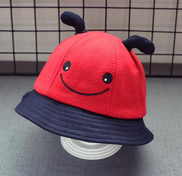 New stingy brim hats kids hats caps happy face colors free shipping