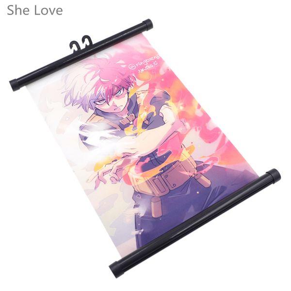 Wand scroll sie liebe japanische Anime mein Held Academia Charakter Poster Wall Scroll Home Decor Fan Geschenk