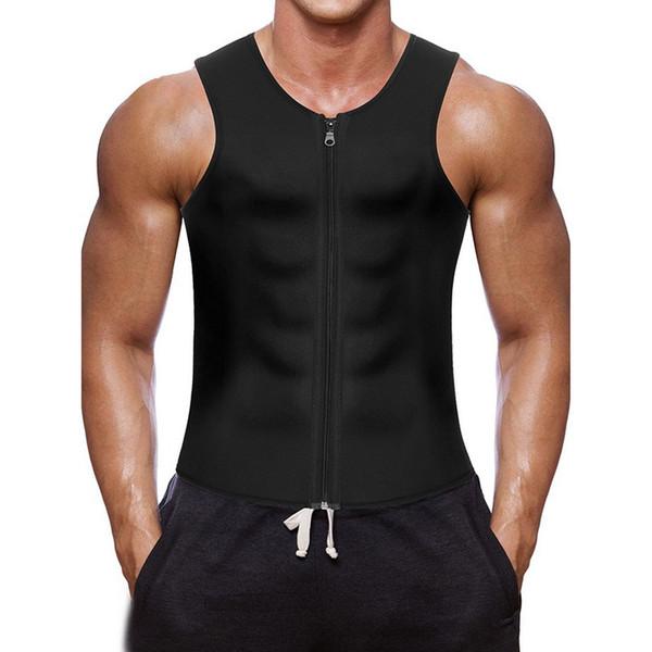 2018 Sexy Schwarz Tank Tops Männer Laufweste Bodybuilding Fitness Sleeveless Unterhemd Reißverschluss Slim Fit Weste Sport Athletisch shirts