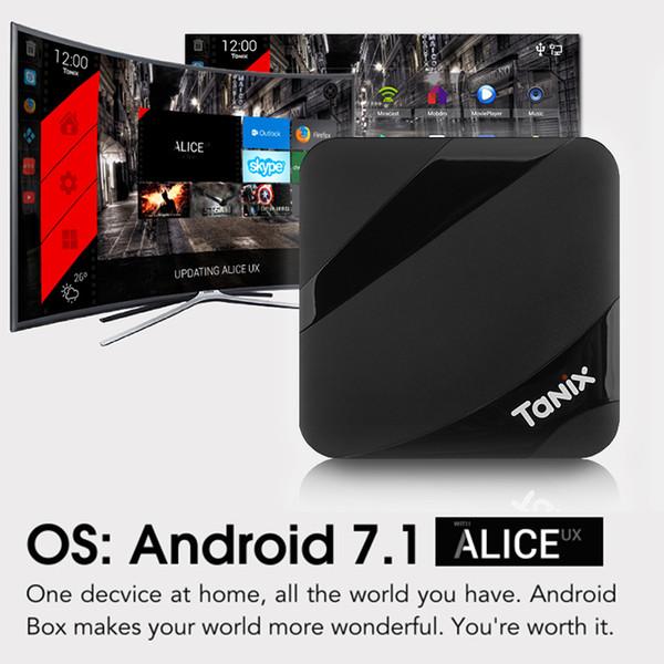 Tv caixa android Tanix TX3 MAX 2 GB de RAM 16 GB ROM chip S905W Amlogic 1080 P Youtube Netflix HBO filme Streaming media player 4K Caixa de TV Inteligente