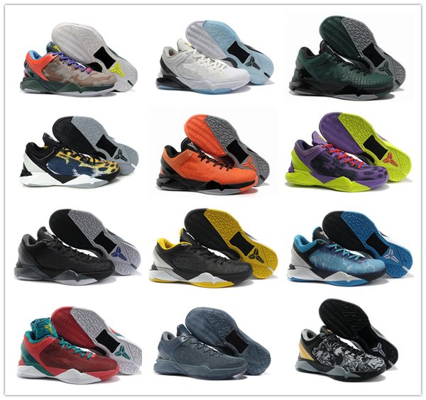 huge selection of 72448 8aac2 2018 High quality kobe 7 VII Elite Master Black Yellow Purple Basketball  Shoes for Cheap Men