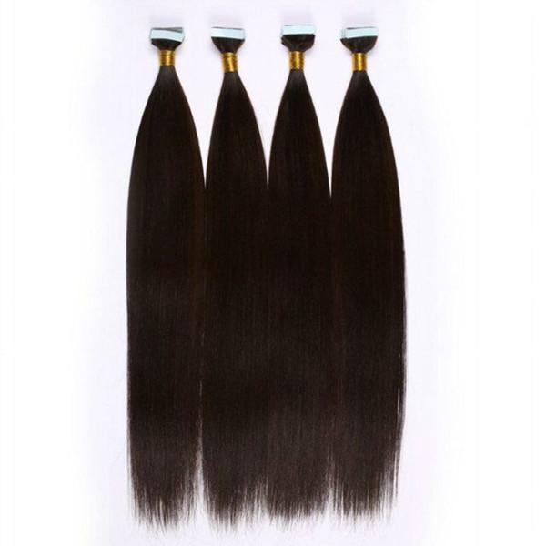 613 estensione brasiliana dei capelli umani di estensioni di trama della pelle dell'unità di elaborazione 2.5g parte 40pcs ha impostato il nastro nelle estensioni dei capelli diritte
