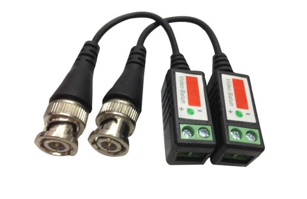 Twisted CCTV Video Balun Passive Transceivers 300meters Distance UTP Balun BNC Cable Cat5 CCTV UTP Video Balun LLFA