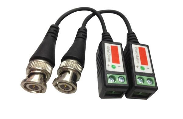 top popular Twisted CCTV Video Balun Passive Transceivers 300meters Distance UTP Balun BNC Cable Cat5 CCTV UTP Video Balun LLFA 2020
