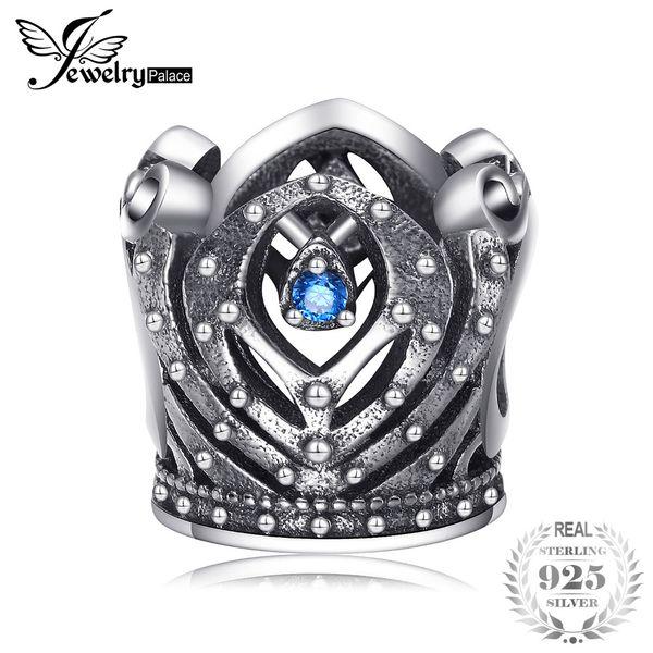 Jewelrypalace 925 Ayar Gümüş Majesty Taç Boncuk Charms Fit Bilezikler Onun Yıldönümü Moda Takı Için Hediyeler Yeni