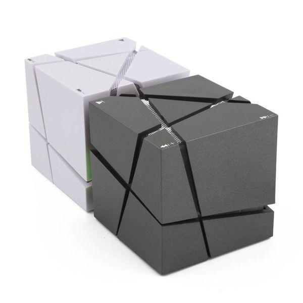 Portable Mini Cube Bluetooth Haut-parleur LED 3W Stéréo Lecteur Mp3 Haut-Parleur Subwoofer Intégré 500mAh Batterie Téléphone Universel