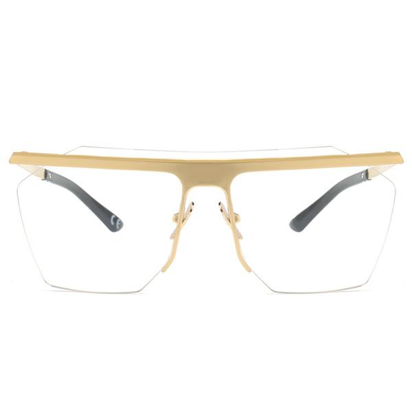 Compre Monturas De Gafas Sin Montura De Oro Para Los Hombres 2019 ...