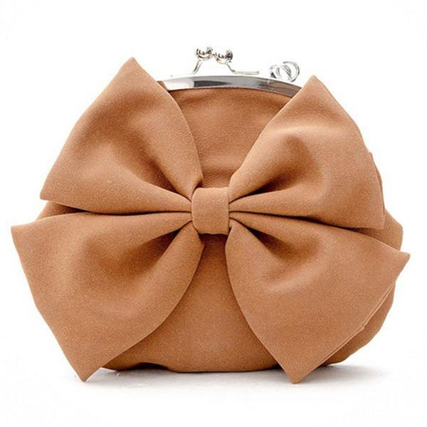Haute Qualité Femmes élégantes femmes sac à main Bow Knot Purse Fashion Wallet