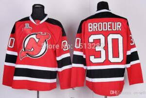 Free Shipping #30 Martin Brodeur Stitched Jersey Men's New Jersey Devils Hockey Jerseys Team Color Home Jerseys