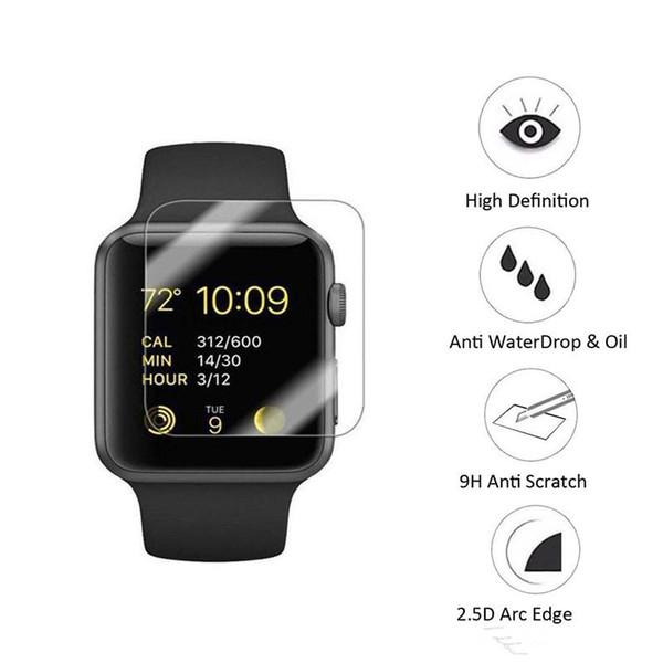 Für Apple Watch iwatch 38mm 42mm 2.5D 9 H Gehärtetem Glas Flim Displayschutzfolie LCD Mit Retal paket
