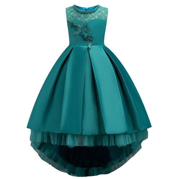 ball gown flower Girl floral princess party dress Summer children clothes wedding Bridesmaid dress girl dress 3-14t baby girl clothing