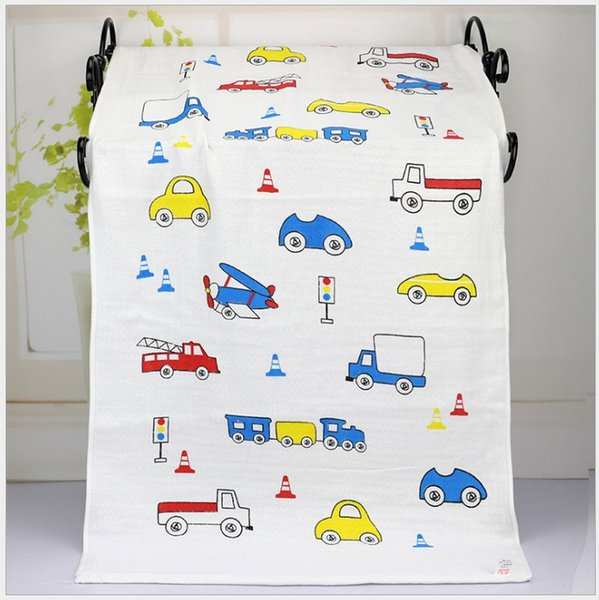 Baby Muslin Swaddles Organic Cotton Wraps Ins Blankets Nursery Bedding Newborn Cartoon Bath Towels Soft Robes Quilt Robes Free shipping