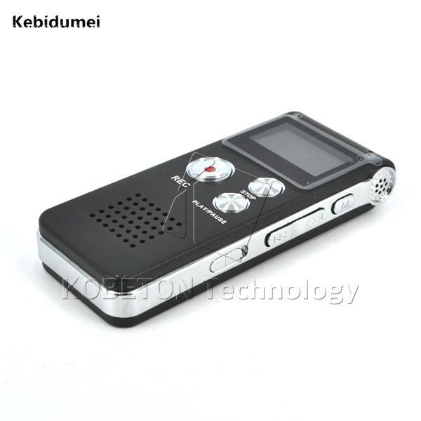Kebidumei 8GB USB Flash Pen Unidad de disco 3D Reproductor de MP3 estéreo Grabadora Gravador Digital Audio Grabador de voz 650Hr Dictafono