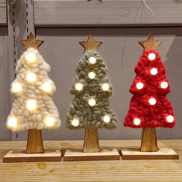 Led Felt Lighting Christmas Tree New Christmas Gifts New Year Xmas Home Party Wedding Decorations As Ornaments 3 Colors HH7-1843