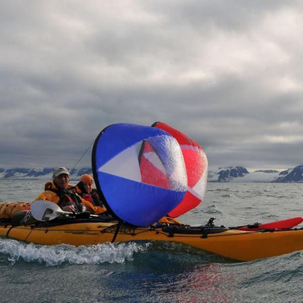 42 Polegada Downwind Vento Vela Kit Kayak Wind Boat Remo para Pesca PVC Pá com Janela Clara Canoa Vela Acessórios