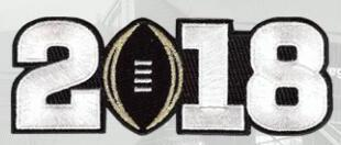 2018 white number patch