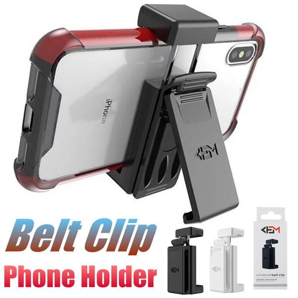 Evrensel Kılıf Telefon Tutucu Kemer Klipleri Ile Dönen Cep Telefonu Kickstand Samsung Not 9 S8 iPhone XS Için erkek Kemer Klipsi