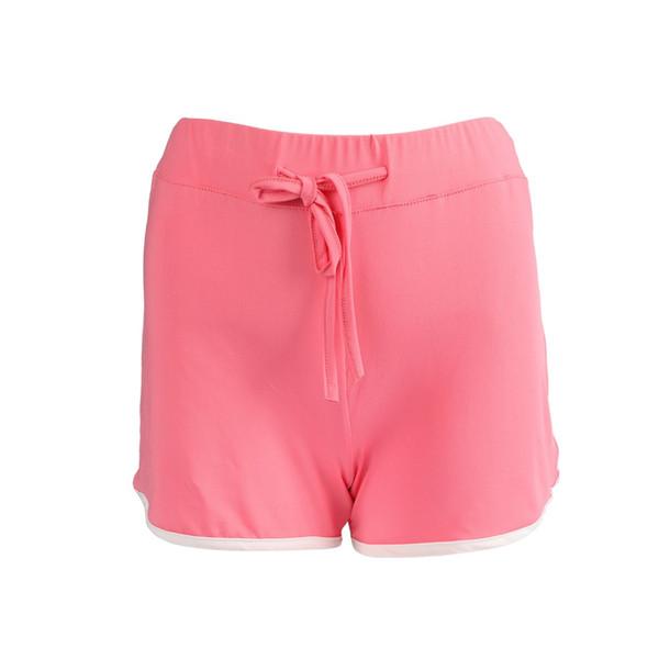 Popular Summer Women Sport Gym Workout Waistband Skinny Yoga Elastic Shorts Pants female loose big yard Sport Shorts Yoga