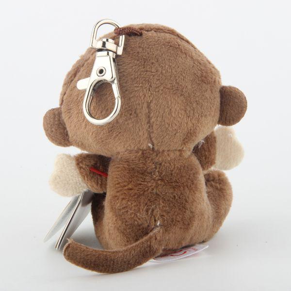 Ty Beanie Boos Big Eyes Peluche Brown Scimmia Portachiavi Toy Doll Nome Cocco con etichetta 4
