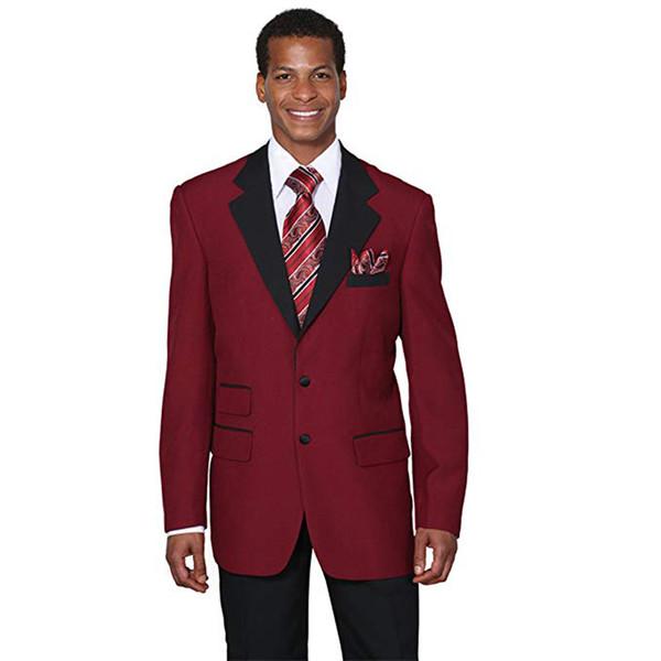 2018 Men Suits Burgundy Evening Dress Wedding Suits Bridegroom Groomsmen Custom Made Slim Fit Formal Tuxedos 2Pieces Blazer Prom Best Man