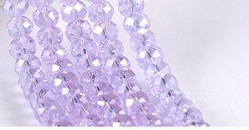 500pcs/LOT VIOLET 4 SIZES #5040 faceted RONDELLE Wheel glass crystal beads DIY JEWELRY MAKING