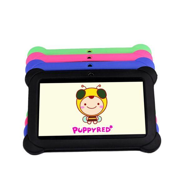 7 pouce Enfants Tablette pad 1 Go + 8 Go Android 4.4 Quad Core Double Caméra 1024 * 600 Tablet PC Enfants Avec Couverture En Silicone Meilleur cadeau
