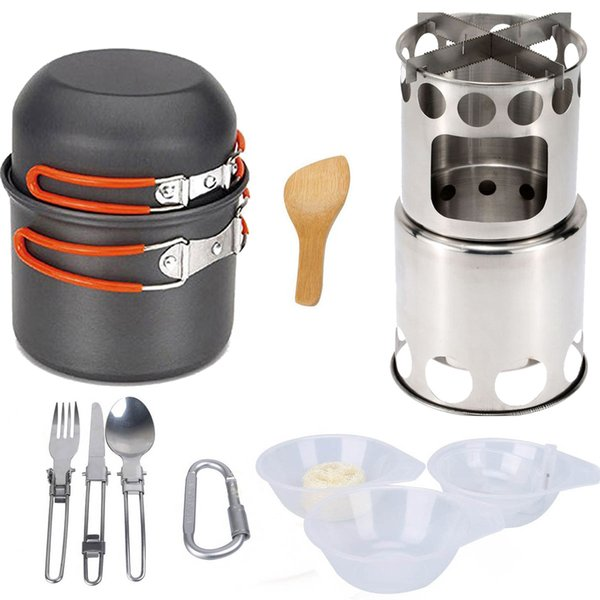 Camping Cookware Bowl Pot Pan Tableware stove kooktoestel Cooking System Outdoor Cooker Portable Gas Stove Propane Burners