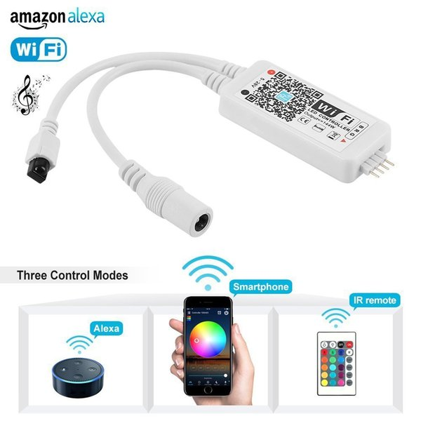 WiFi Wireless LED Smart Controller Working with Android and IOS System Mobile Phone Free App for GRB LED Light Strips 5050 3528 LEDs