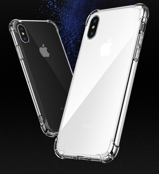 top popular 1.5 mm Transparent Shockproof Hybrid Armor Bumper Soft TPU Frame Case Cover for iPhone X XR XS MAX 8 7 11 PRO MAX Samsung S9 Note9 2020