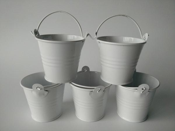 100 pcs De Metal Mini Baldes Favores Do Casamento, mini baldes, caixa de doces de estanho, pacote de presente favor doce caixas bom suculentas plantador
