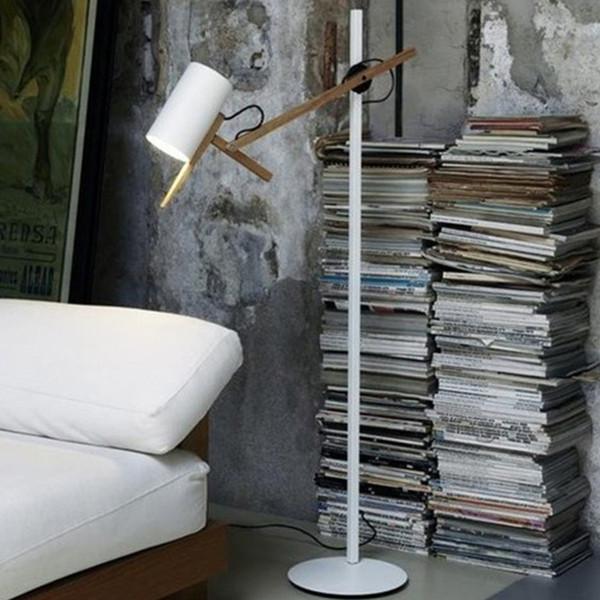 Modern Wooden Table Lamp Adjustable Wood Desk Accent Lamp Metal Bedside Study Bedroom Exhibition Reading Room Table Light Decor