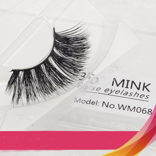 Faux Mink Hair 3D False Eyelashes Soft Handmade Long Full Strips Fake Lashes Eyelashes Extension Beauty Makeup Tools Factory Outlet Eyelash