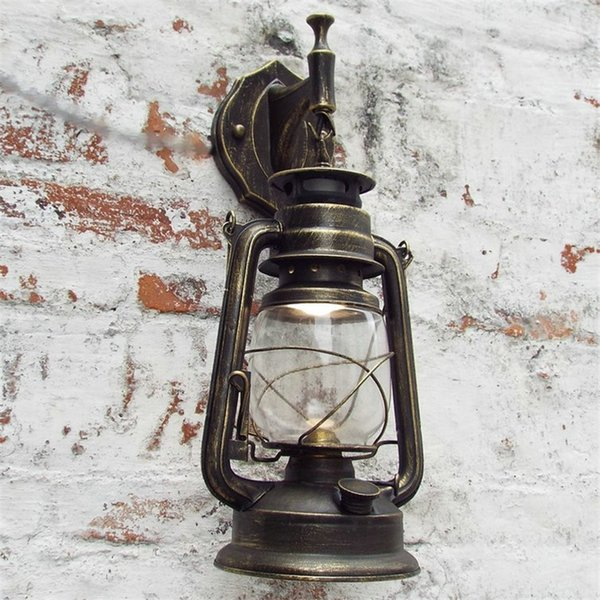 LED Retro Wall Lamp Vintage Glass European Kerosene Lamps For Bar Coffee Shop Home Led Corridor Wall Lamp