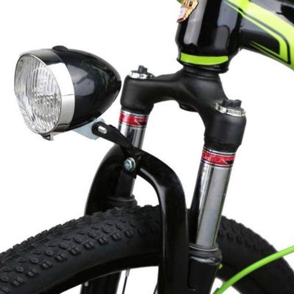 3 LED bicicleta faro bicicleta retro luz delantera lámpara con soporte universal antigua bicicleta ciclismo luces delanteras