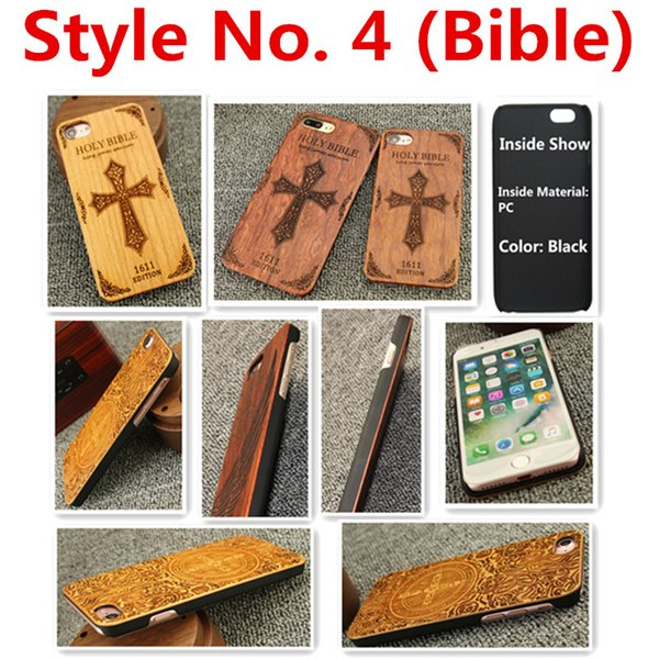 Style No. 4 (Bible) Fashionable Stylish Classy Snap-On Real Projector Wood Wooden Protective Rear Back Cover Case for iPhone X Inside PC