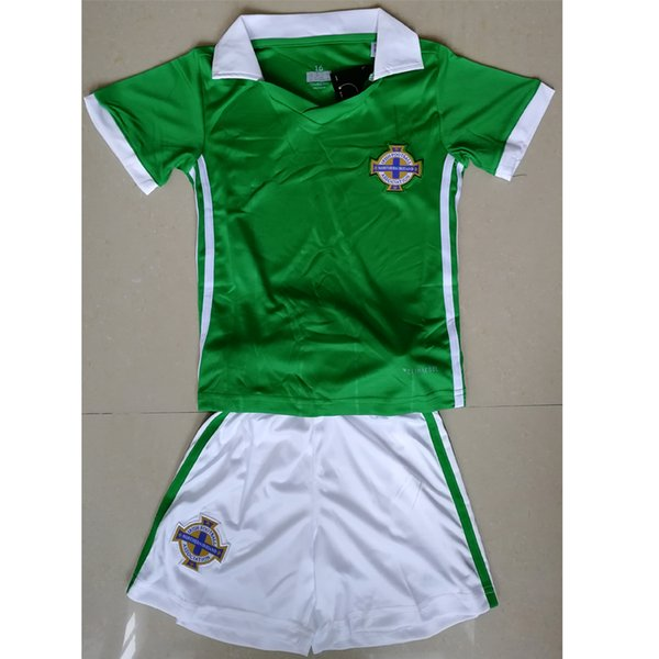05359c9d6 2018 Northern Ireland home soccer jerseys for kids 18 19 BOYS children kits  football shirts set